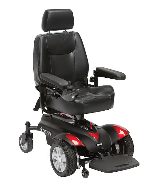 The Titan Powerchair is perfect for users on the go as it can be disassembled, without tools, and loaded easily into a car for easy transportation. Its ultra-manoeuvrable and compact size makes it ideal for around the home and in busy shopping centres.